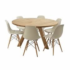 captivating light brown round modern wooden round dining table for 6 stained ideas