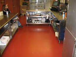 Epoxy Floor Kitchen Epoxy Commercial Kitchen Flooring All About Flooring Designs