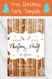 Merry Little Christmas Invitation Template Christmas