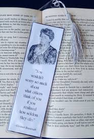 Bookmark Eleanor Roosevelt Quote Pencil Portrait Choose Amount Plastic Sleeve Reading Library Book Club Reading Group Famous People