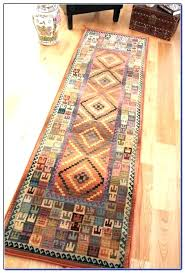 foot wool runner rug best of vintage extra long narrow handmade unique tribal small home furniture