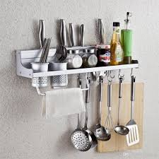 Kitchen Wall Organization Wall Mounted Kitchen Spice Rack Utensil Pot Pan Hanger Hooks