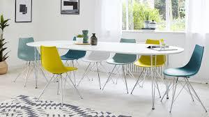 modern white satin oval extending dining table 6 10 seater throughout white extending dining table and