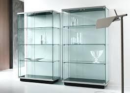 glass door cabinet ikea hemnes wall white kitchen