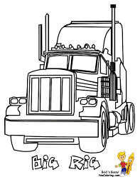 Big Rig Truck Coloring Pages Free 18 Wheeler Boys Coloring Pages