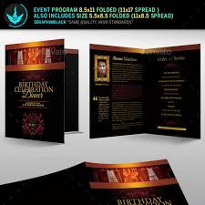 The description should be brief and to the point in your event program template, just enough to tell the audience about the organizers, the sponsors and the core objective of the event. Conference Program Template Graphics Designs Templates