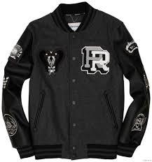 king cobra varsity jacket black grey by reason clothing men s black