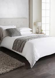 100 cotton satin stripe duvet set 200 thread count