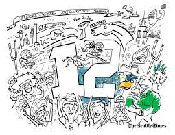 Small Picture 12th Man Kids Color your own Super Bowl scene Seahawks Blog