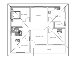 three bedroom small house plan