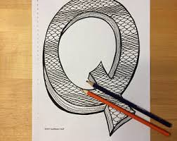 Small Picture Letter q coloring Etsy