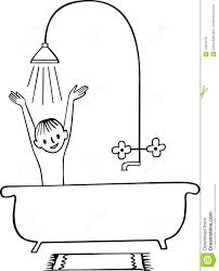 bath clipart outline bathroom black and white clip free