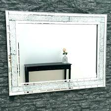 large rectangular wall mirror black rectangle mirrors full image for frame modern mosaic mounted mirro large rectangular wall mirror