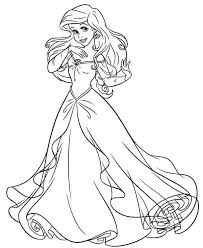 The frame containing herself and prince eric is very romantic. Princess Ariel Dress Coloring Pages Disney Princess Coloring Pages Ariel Coloring Pages Mermaid Coloring Book