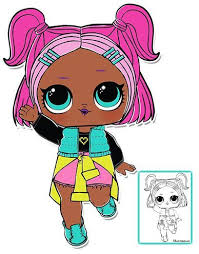 Color her any color you want with this free lol surprise doll coloring page from lotta lol. V R Q T Lol Surprise Doll Free Coloring Page To Print Come To Our Website To Download And Print Lol Surprise Dolls Fo Lol Dolls Free Coloring Pages Doll Party