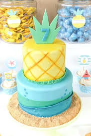 How To Make A Spongebob Cake Pineapple Birthday Cake Spongebob Cake Meme