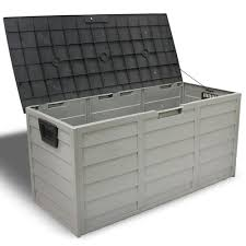 deck storage container. Patio Deck Storage Box In Grey Intended Container