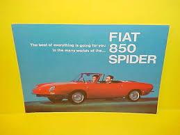 fiat spider io 1967 fiat 850 spider convertible hardtop dealer showroom s brochure catalog