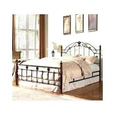 wrought iron king bed. Rod Iron King Bed Wrought Headboard Antique Metal Queen Poster Frame B