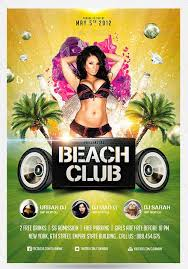 club flyer templates top 25 best summer party psd flyer templates