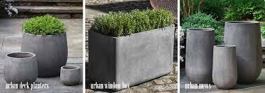 large cement planters. Large Modern Fiber Cement Planters