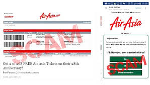 Free Tiket Its A Scam Says Airasia Over Online Promos For Free