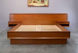 scandinavian platform bed. Interesting Bed Scandinavian Teak Platform Bed With Floating Nightstands Queen Size  SOLD In F