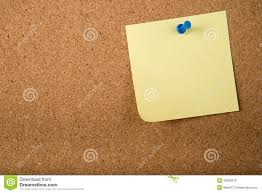 Board Memo Template Sticky Note Memo On Board Stock Illustration Illustration Of Write 2
