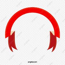Semicircle Folding Red Ribbon Material Fold Red Silk Strip