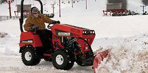 steiner snow tractors attachments steiner tractors steiner tractors get a grip on snow removal