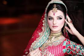 bridal makeup with red dress latest stani
