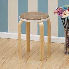 african eagle feizhouying simple solid wood stool special offer home bench fashion creative dining table stool high stool thickened deng round stool brown