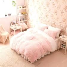 pink bed set queen pink bedding sets pink white girls cashmere wool velvet ruffle duvet cover pink bed set