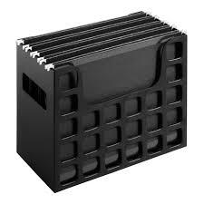 desktop file box hanging folder organizer storage rack doent letter office