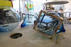 round square cabinet by studio thierandvandaalen bubble hand blown glass