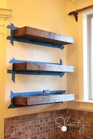 Install Floating Shelves Without Brackets