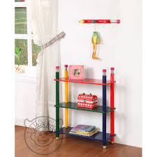 pencil themed 3 tiered bookstand shelving unit