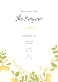 Microsoft Wedding Program Templates Wedding Program Template Beige Floral Wedding Program Wedding