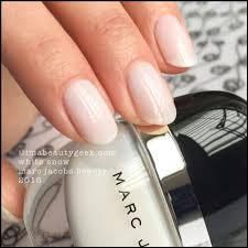 marc jacobs white snow hi shine nail lacquer
