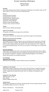 sample of minutes taken at a meeting how to write effective meeting minutes with templates and