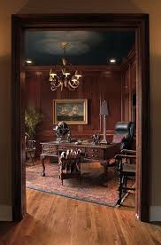 Classic Home Office Design Best Mahogany Paneled Study Octopus Chandelier R Nicholas Phillips