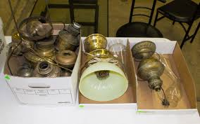 oil lamp parts and table lamp assortment leonard auction
