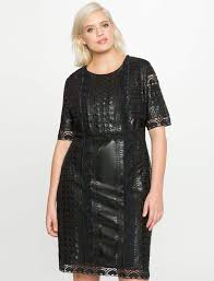 plus size eyelet faux leather dress by eloquii
