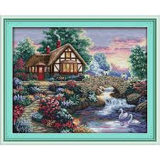 <b>Everlasting love</b> Beautiful homeland (6) Chinese cross stitch kits ...