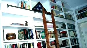 library bookcase with ladder post library shelf ladder wheels