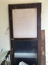 show only image brown wooden frame glass door