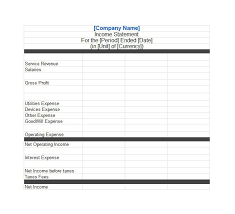 operating statement format 41 free income statement templates examples template lab