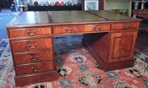 vintage english burlwood partners desk