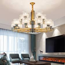 modern gold gray metal led chandeliers lighting living room glass shade led pendant chandelier lights bedroom hanging lamp glass chandelier shades