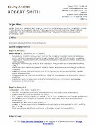 Financial Analysis Of Microsoft Equity Analyst Resume Samples Qwikresume